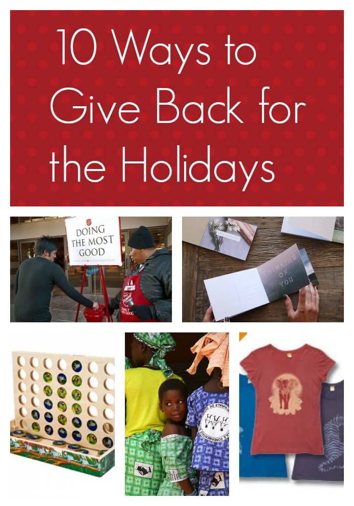 10 Ways to Give Back for the Holidays