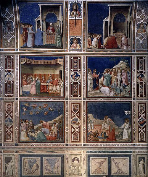 500px-Giotto_di_Bondone_-_Scenes_with_decorative_bands_-_WGA09284