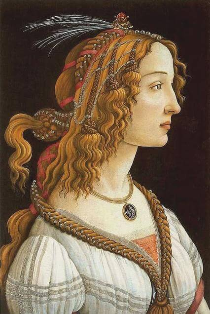 Botticelli's Simonetta Vespucci as a nymph, early to mid 1480s