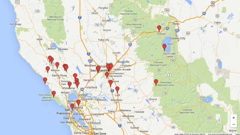 30 Things to Do in Northern California – Sacramento Tourist Attractions Map