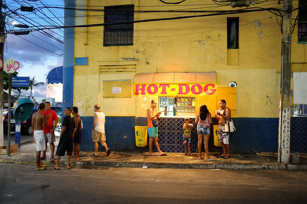 Hot Dog stand in Salvador. Photo credit: Franco Monti on Flickr.