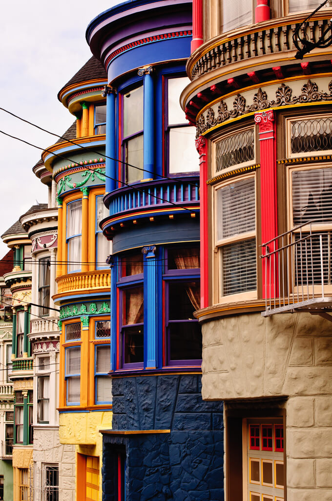 Victorian houses in San Francisco. Photo credit: Brandon Doran on Flickr.