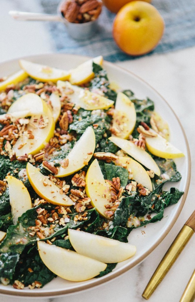 Kale and Asian Pear Salad. Photo credit: A House in the Hills