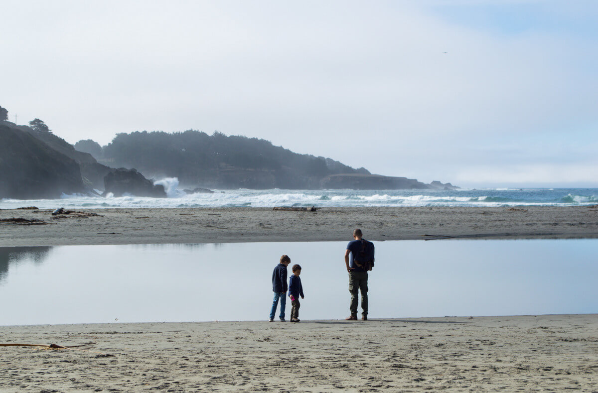 Best beach in Mendocino for kids