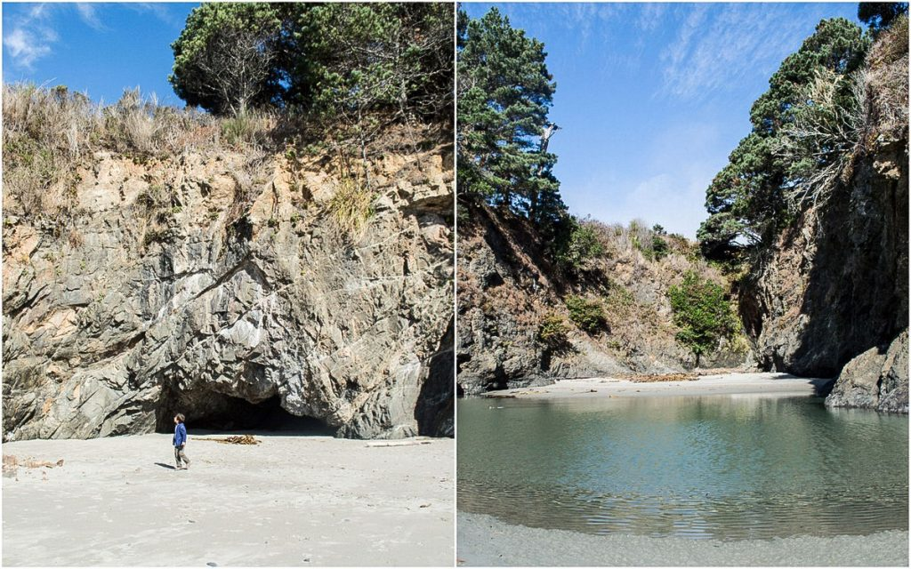 Beach with kids Mendocino
