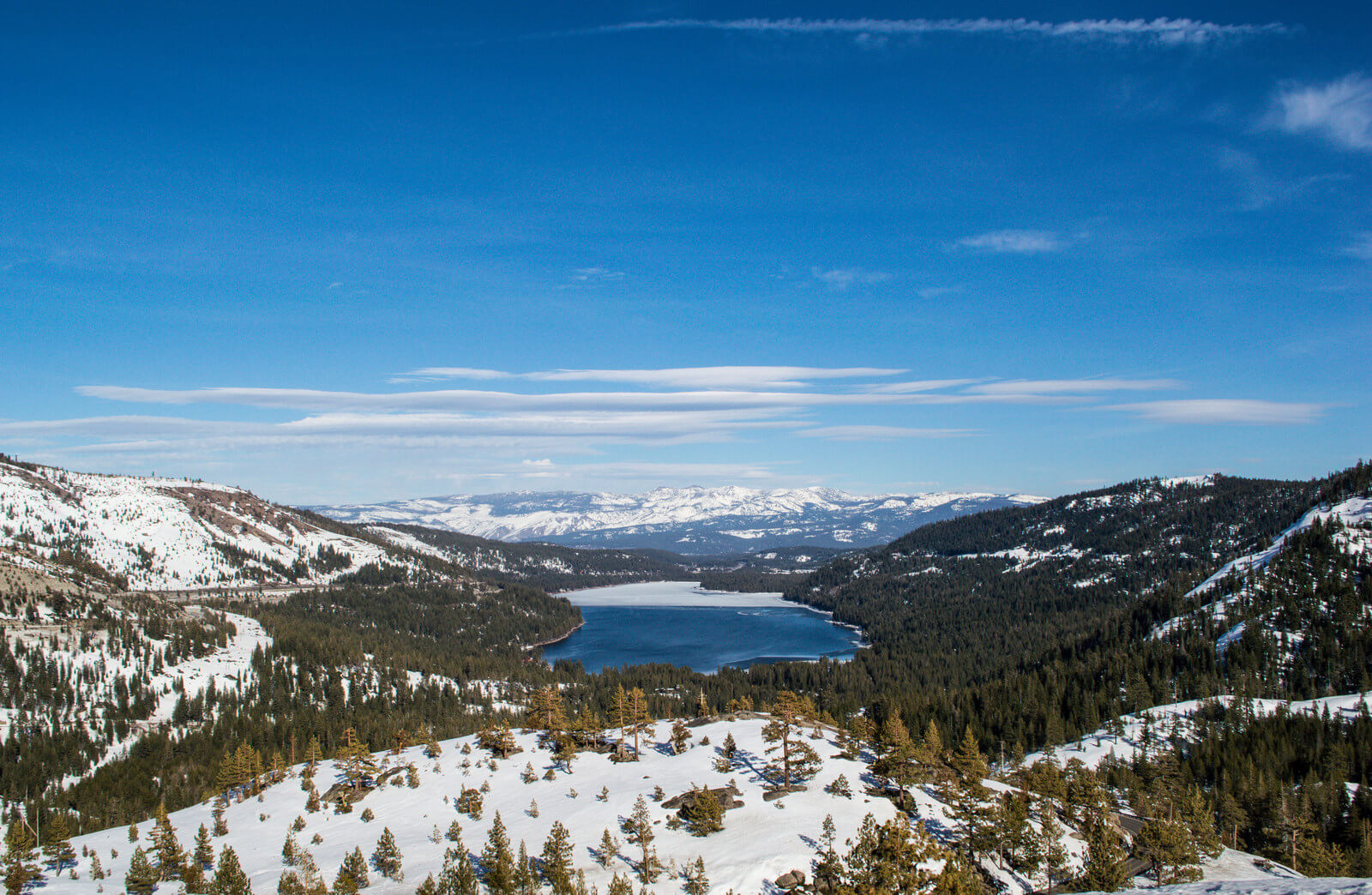 View of Donner Lake : Day Trip to Truckee