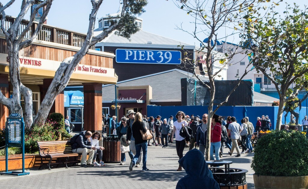 family visit to PIER 39